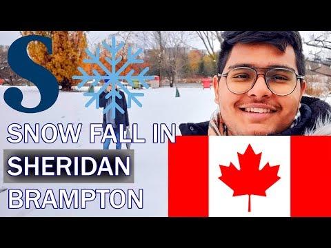 FIRST SNOWFALL In BRAMPTON   SHERIDAN COLLEGE   Brampton, Ontario   VLOG