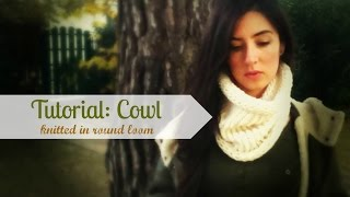 Repeat youtube video Easy knitted cowl/circle scarf in round loom