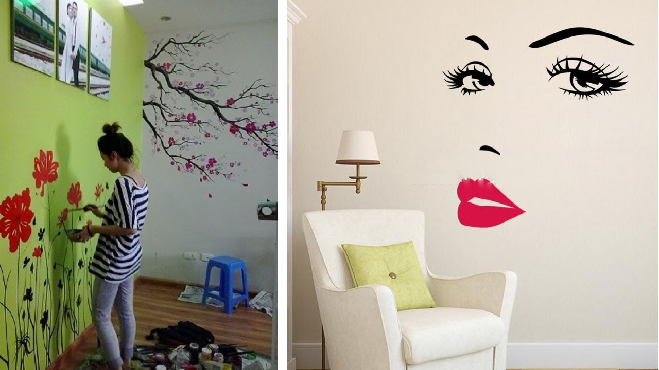 Beautiful Wall Painting Ideas For Home Amazing Wall Art Decoratings Youtube