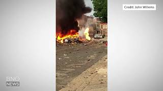 Large gas explosion in Sun Prairie, Wisconsin, causes injuries