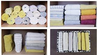 Как сложить полотенца КРАСИВО, КОМПАКТНО, УДОБНО