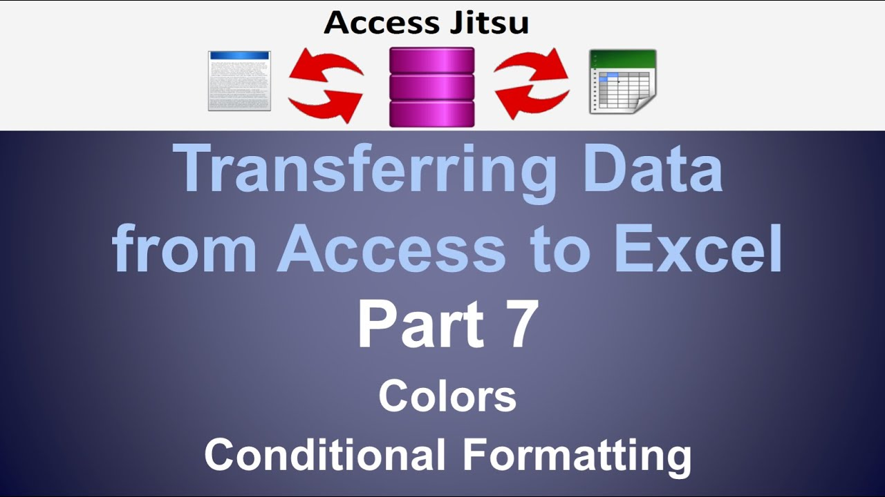 export access data to excel template - export from access to excel part 7 colors conditional