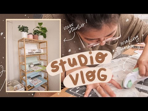 STUDIO VLOG 37   Setting Up and Working in the New Studio, HUGE sticker shop restock, Packing Orders
