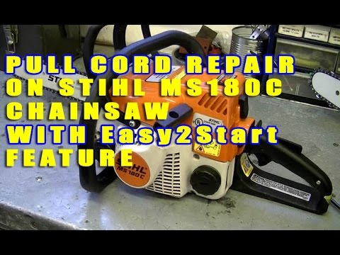 pull cord repair on stihl ms180c with easy2start feature youtube Stihl MS250C Manual donyboy73 stihlchainsaw