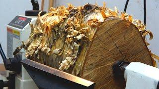 Woodturning:  Yellow Birch Pedestal Box
