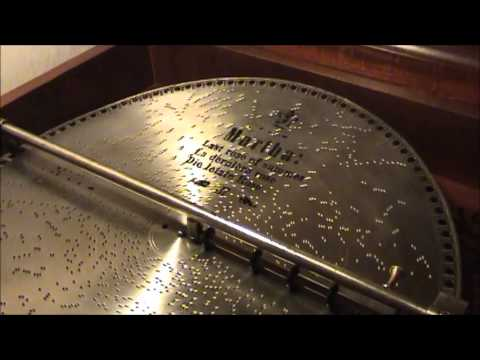 LAST ROSE OF SUMMER Played On 1905 MIRA Music Box 18 12 inch Concert Grand Console  Beautiful Song