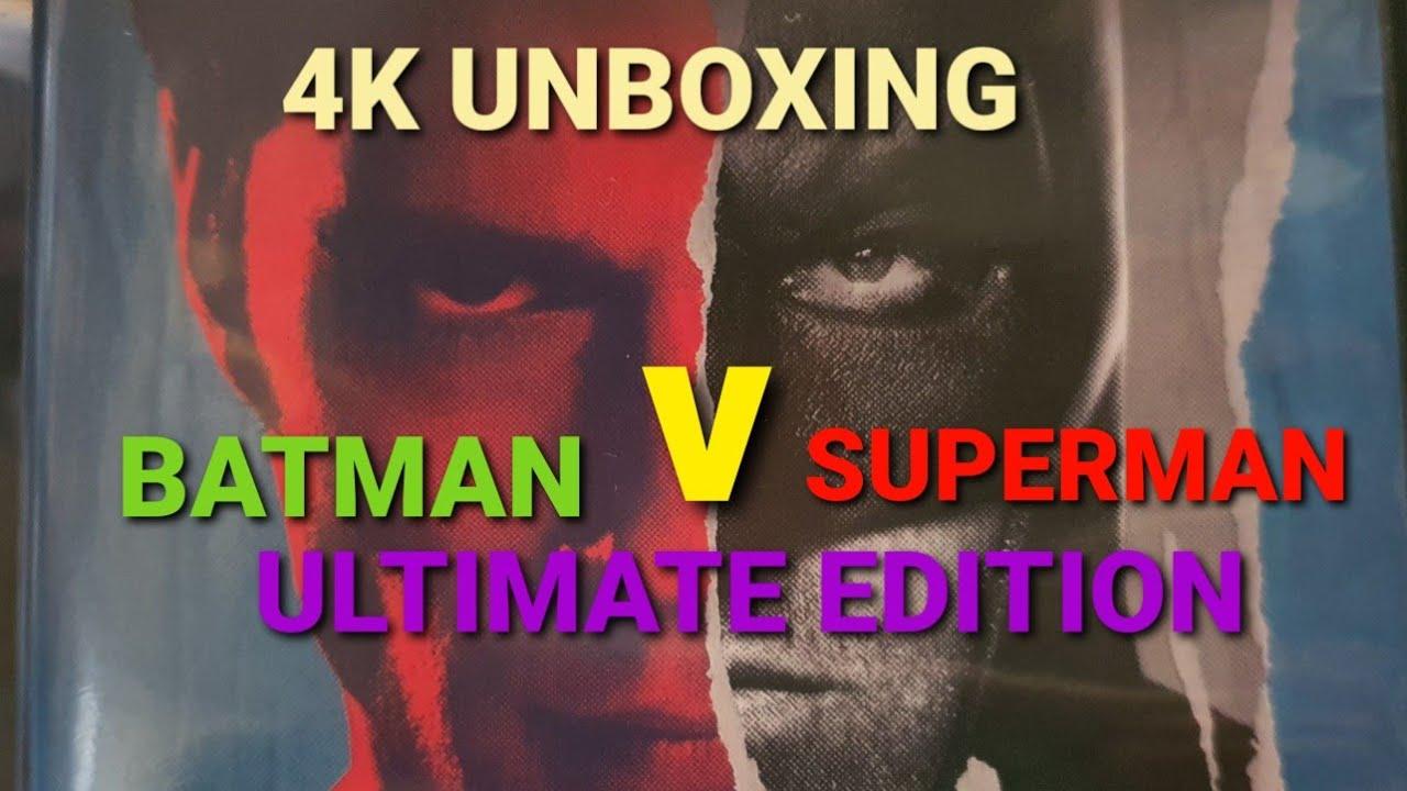 BATMAN V SUPERMAN ULTIMATE EDITION 4K ULTRA HD BLU-RAY UNBOXING + MENU