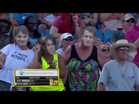 """Big Four"" hilarious crowd dancing | Western & Southern Open Cincinnati 2016"