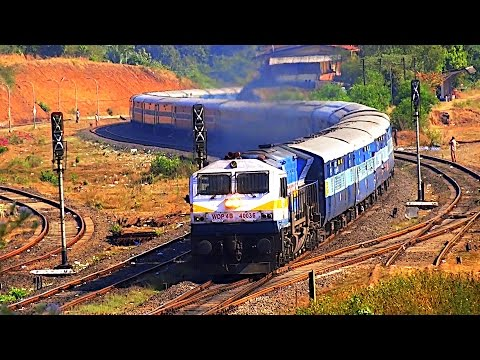 India's Extreme Rail Engineering Marvel KONKAN RAILWAY : Nivasar Station & Mandovi Express