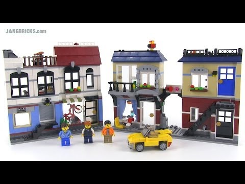 LEGO Creator 31026 Bike Shop & Cafe review - all 3 versions! Summer 2014