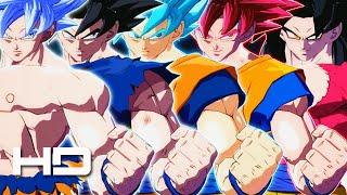 Dragon Ball FighterZ - All Goku Transformations (Super Saiyan 1-2-3-4-God-Blue & Ultra Instinct)