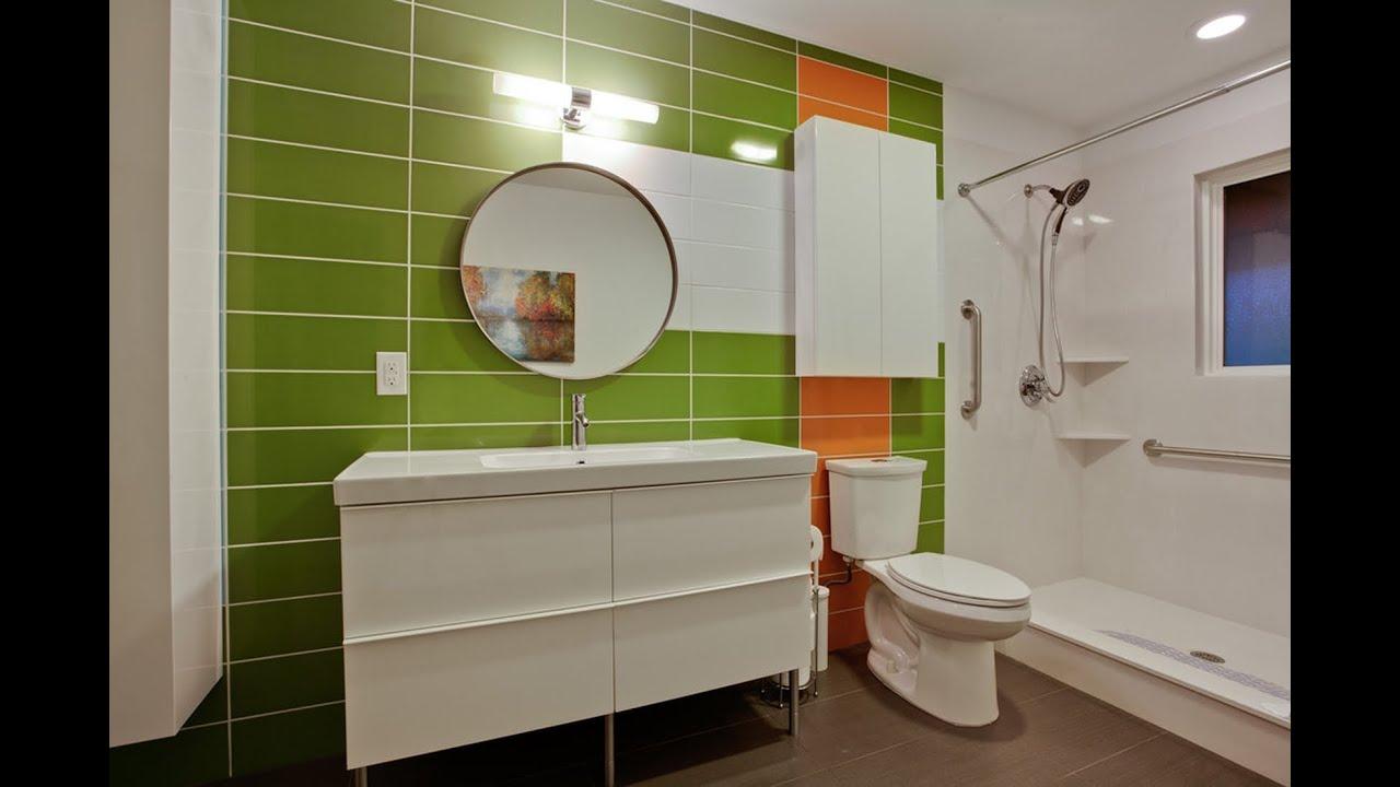 Зеленый цвет в ванной комнате Youtube