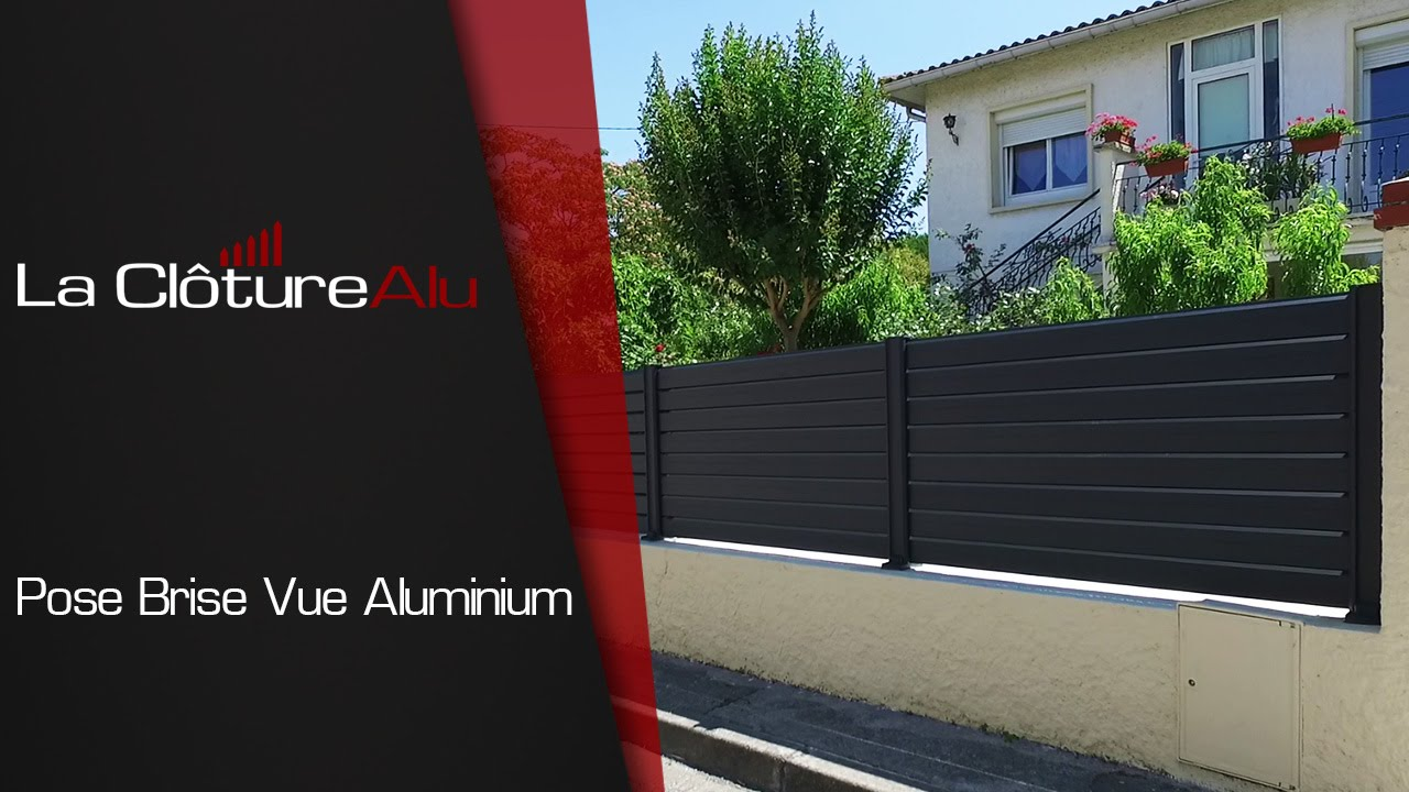 pose d 39 une cloture aluminium youtube. Black Bedroom Furniture Sets. Home Design Ideas