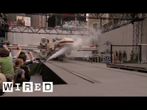 Giant Lego X-Wing Fighter Lands in Times Square-Game|Life-WIRED Exclusive