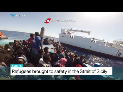 Italian coast guard rescues 4000 refugees in Sicily