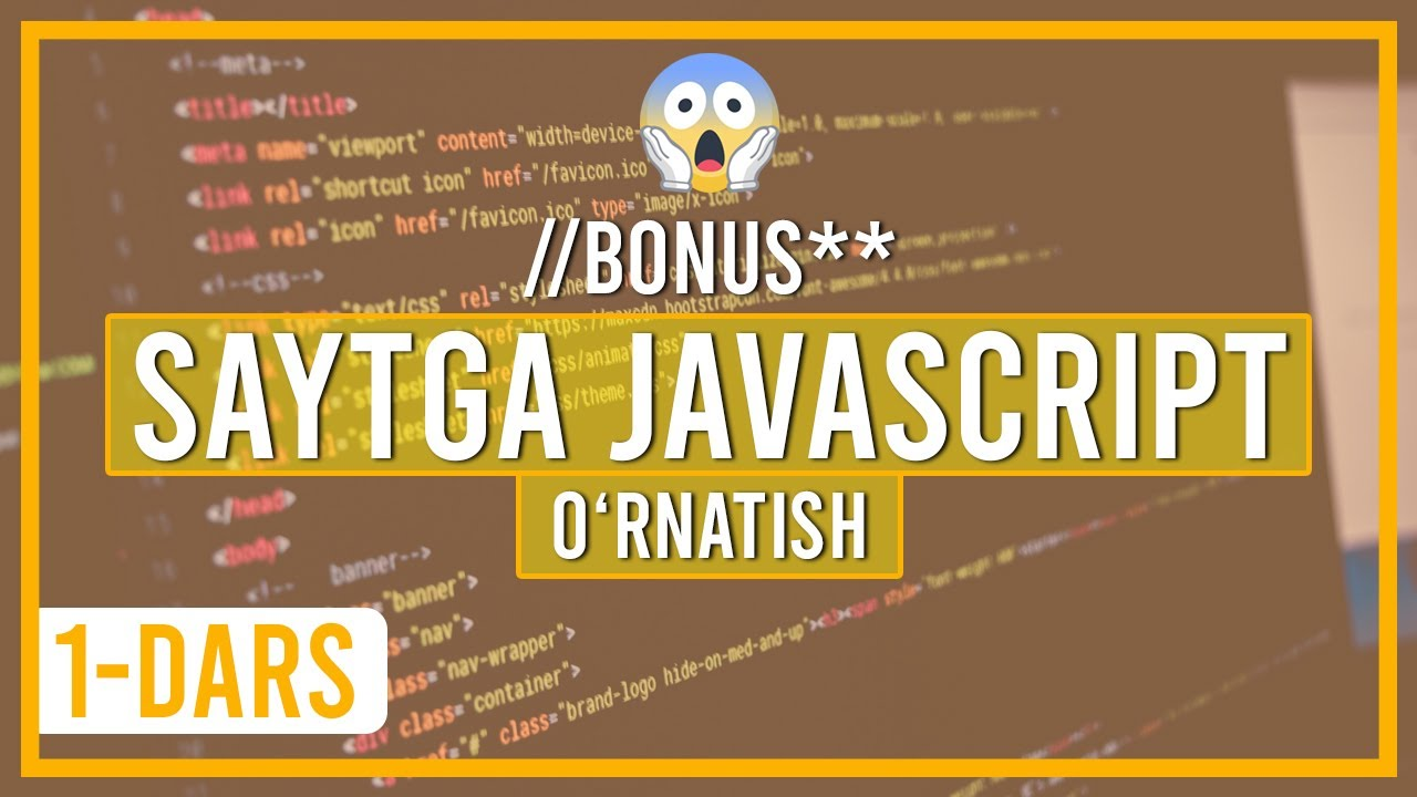 Web sahifaga javascript o'rnatish