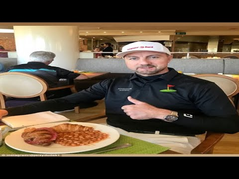 Champions League winner Jerzy Dudek tucks into bizarre breakfast as he enjoys golfing holiday in