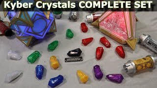 Star Wars Galaxy's Edge - Holocron and Complete Kyber Crystal Collection ( All Audio )