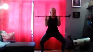 N°23/By Sylvie FREGEZ      Gym d'entretien avec bâton