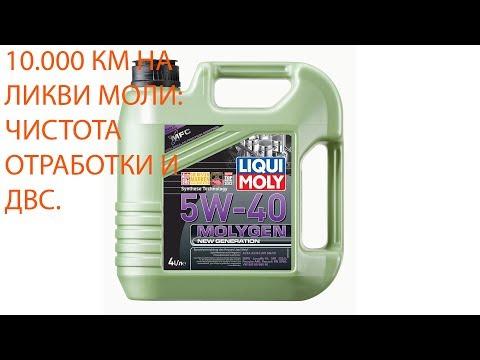 10.000км на Ликви Моли молиген 5w40: чистота ДВС и отработки.
