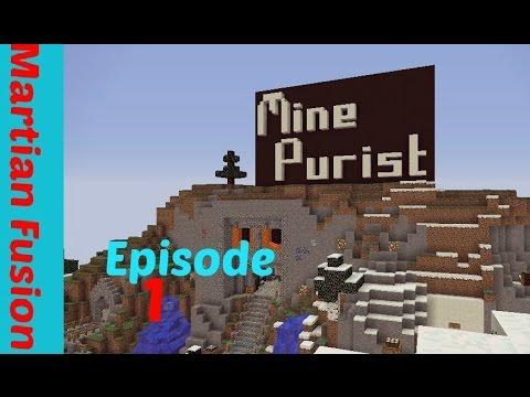 The Adventure Begins! Mine Purist Ep 1- Minecraft Survival 1.10.2 Server