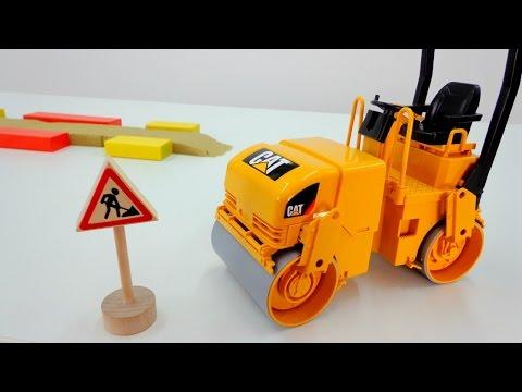 Машинки - Игры для детей - Пластилин. Видео для мальчиков: Самосвал и Каток построили дорогу!