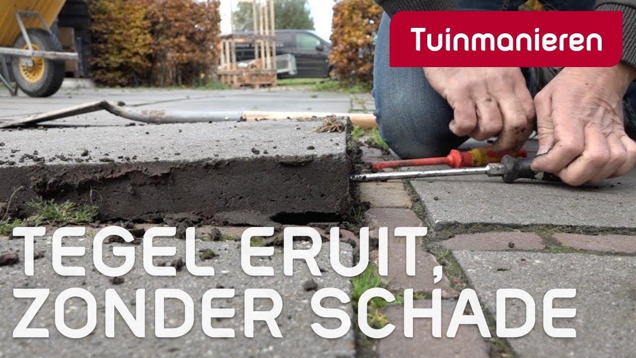 Tuin En Terras Tegels En Stenen.Hoe Haal Je Een Tegel Uit Je Terras Zonder Schade Aan Andere Tegels