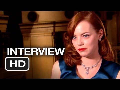 Gangster Squad Interview - Emma Stone (2013) - Ryan Gosling, Sean Penn Movie HD