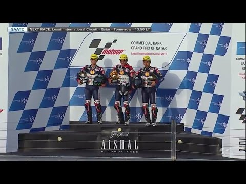 Indonesia Raya berkumandang Di race 1 SAATC Qatar 2016