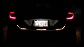 LED Rear Trunk Tail Light Flow Strip Brake/Reverse/Turn Signal Review - Ford Focus ST