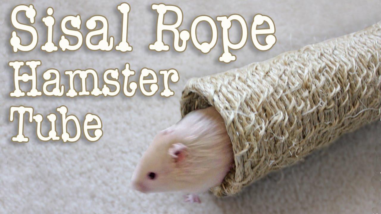 natural sisal rope hamster tube diy by hammy time - Sisal Rope