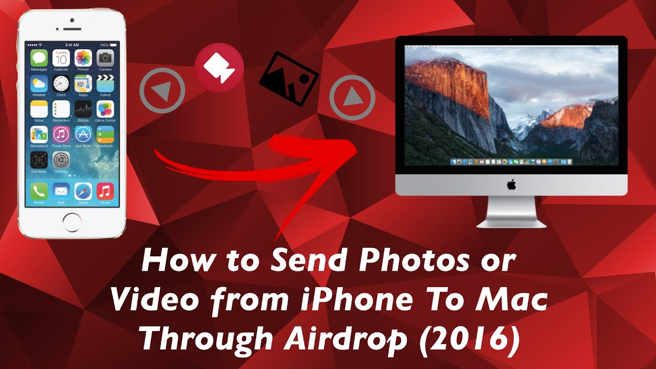 How To Send Photos Or Video From Iphone To Mac Through Airdrop (2016)