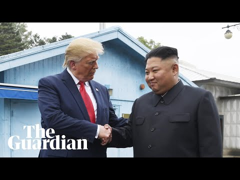 Kim Jong-un welcomes Donald Trump to North Korea