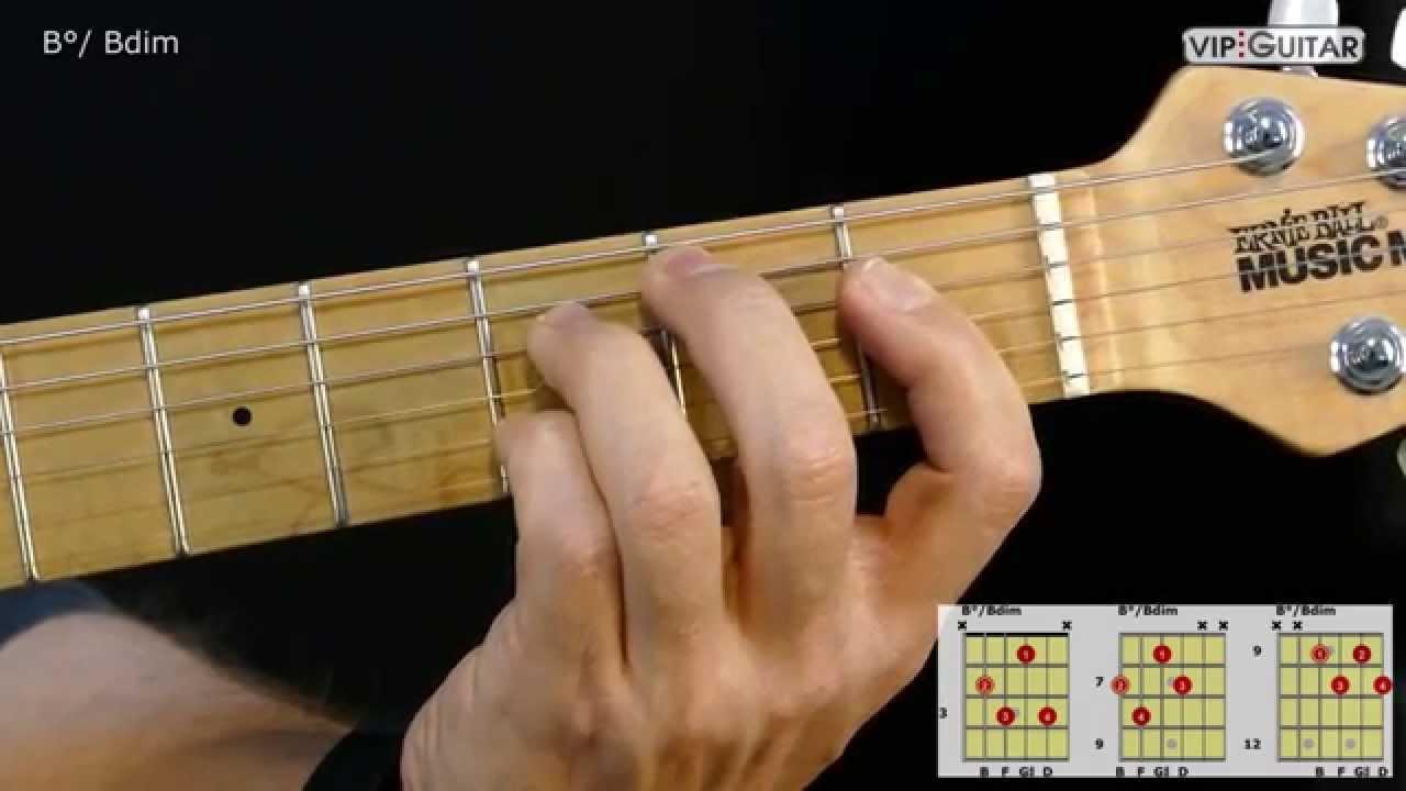 Gitarrenakkorde B Bdim Chord Youtube