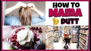 Lebensmittel kaufen | MEIN 👱♀️ MAMADUTT | Himbeer-Baiser Nachtisch | Familyvlog #250