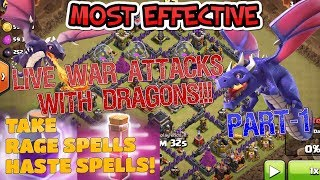 lIVE War attacks with Dragons | Dragons Are most effective | Clash of clans | GaminG WitH RoY
