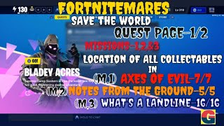 FORTNITEMARES:BLADEY ACRES/ALL ITEMS LOCATIONS-MISSIONS-1,2,3-QUEST PAGE 1/2