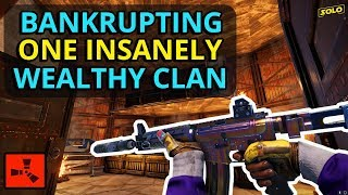 Bankrupting A Salty Clan When They Let Us In Their LOOT ROOMS! - Rust (4/4)