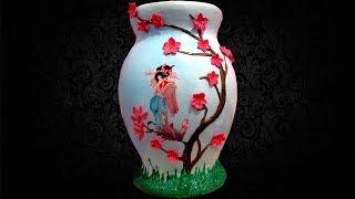 Напольная ваза своими руками в Японском стиле. Мастер класс (часть 1)