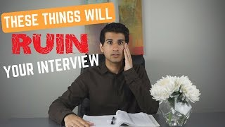 DON'T DO THESE 5 THINGS AT YOUR MEDICAL SCHOOL INTERVIEW
