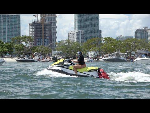 Miami Beach And Jet Skis