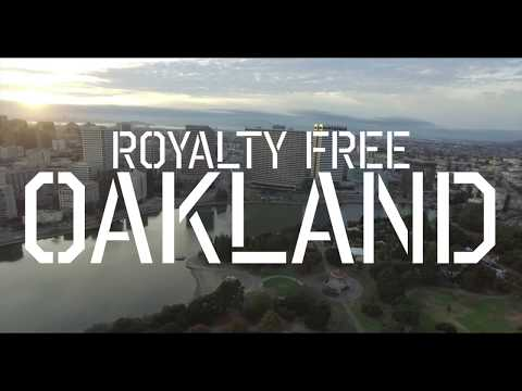 Royalty Free Aerial footage// Oakland Ca.