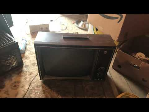 "1975 GE 19"" black and white tv"