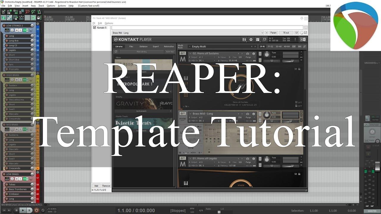 daw templates reaper