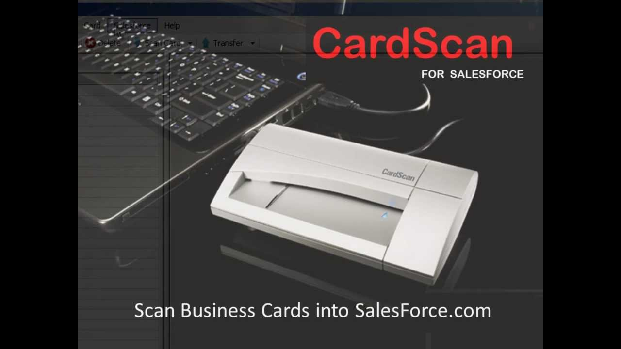 Scan Business Cards into Salesforce Business Card Reader - YouTube