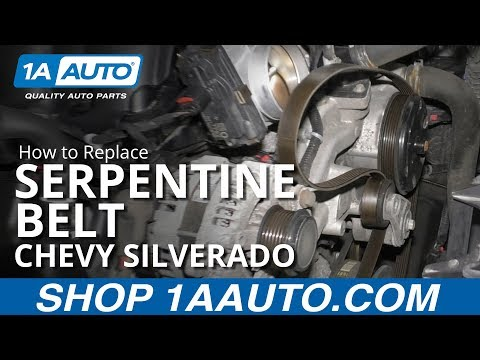How to Replace Serpentine Belt 14-19 Chevy Silverado