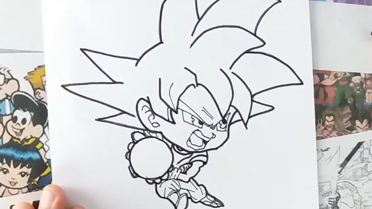 como desenhar goku deus super saiyajin chibi youtube