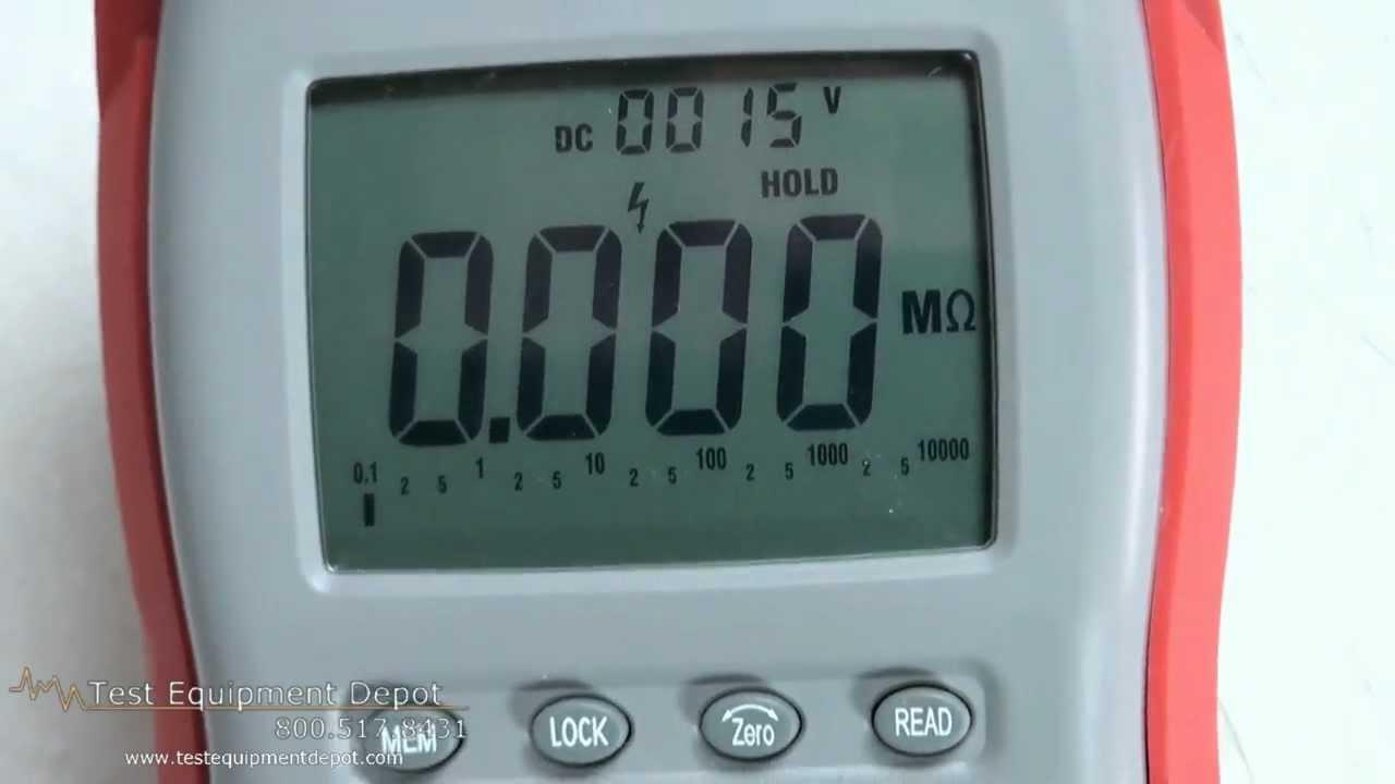 Amprobe AMB-25 Digital Megohmmeter - Insulation Resistance Tester ...