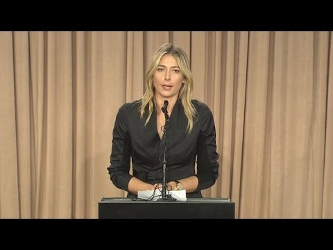 Tennis Star Maria Sharapova Fails Drug Test: 'I Made a Huge Mistake'