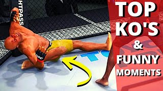 EA Sports UFC TOP KNOCKOUTS \u0026 FUNNY MOMENTS (Idiots getting ready for UFC 4)